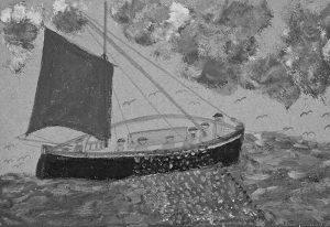 تجسمی از کشتیها، هنر دریایی آلفرد والیس