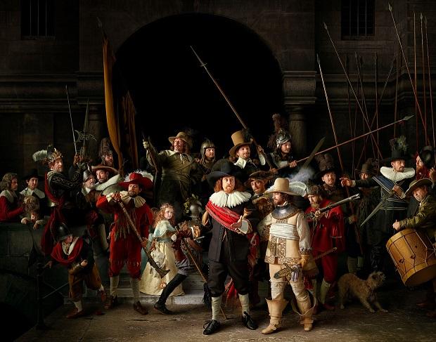 مشهورترین نقاشی های جهان 12 گشت شبانه اثر رامبراند