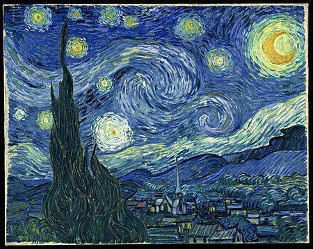مشهورترین نقاشی های جهان 11 شب پرستاره اثر ونسان ون گوک