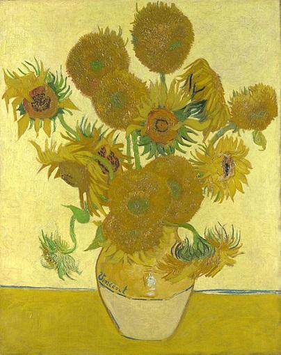 مشهورترین نقاشی های جهان 6 گلهای آفتابگردان اثر ونسان ونگوک