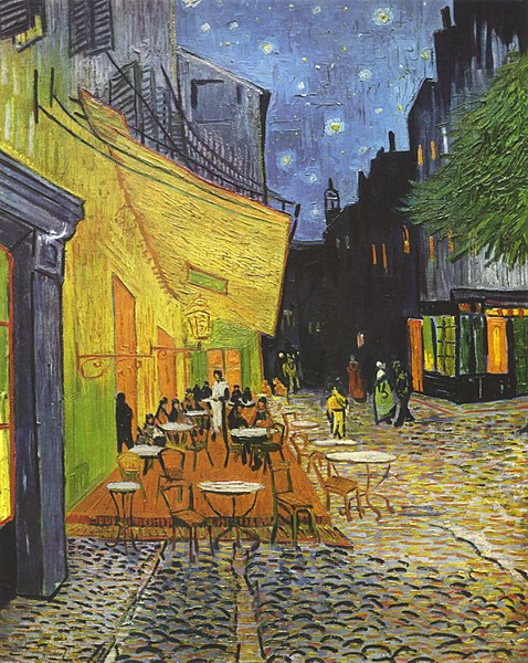 مشهورترین نقاشی های جهان 17 تراس کافه در شب  اثر ونسان ون گوک