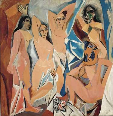 مشهورترین نقاشی های جهان 15 دوشیزگان آوینیون اثر پابلو پیکاسو