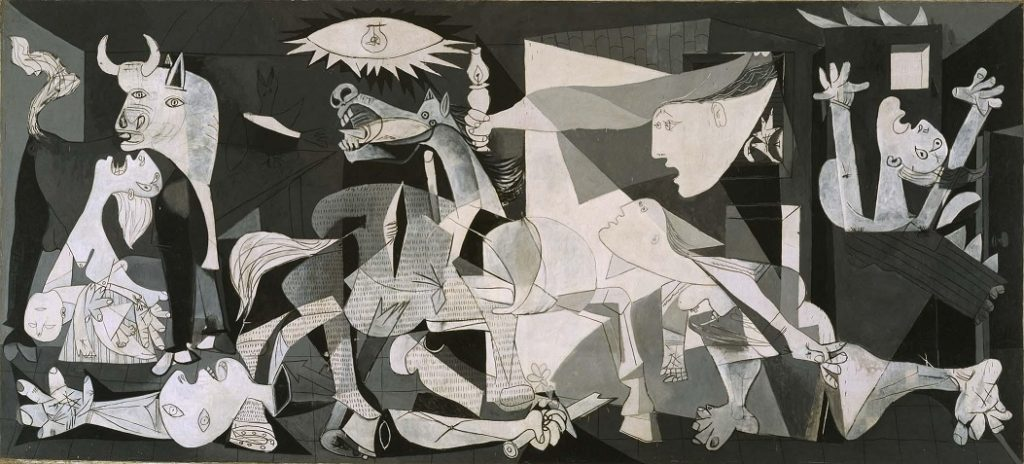 مشهورترین نقاشی های جهان 10 گرنیکا اثر پابلو پیکاسو