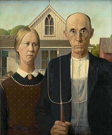 مشهورترین نقاشی های جهان 18 گوتیک آمریکایی اثر گرنت وود