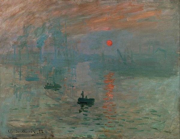 مشهورترین نقاشی های جهان 8 8- امپرسیون طلوع آفتاب اثر کلود مونه
