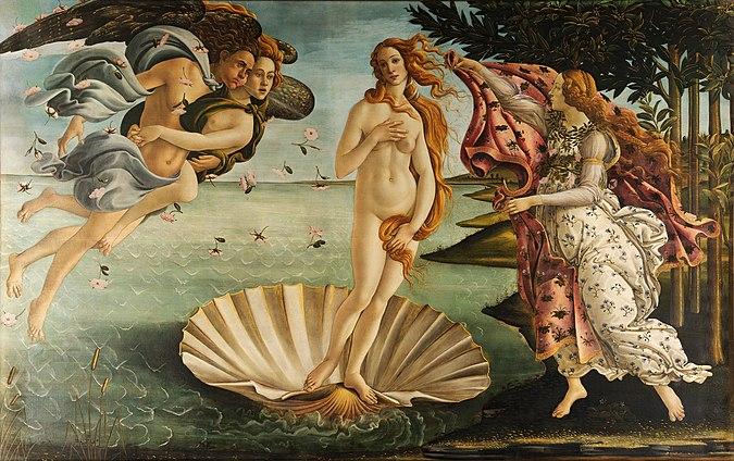 مشهورترین نقاشی های جهان 05 زایش ونوس اثر ساندرو بوتیچلی
