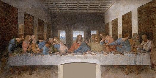 مشهورترین نقاشی های جهان 03 شام آخر اثر لئوناردو داوینچی