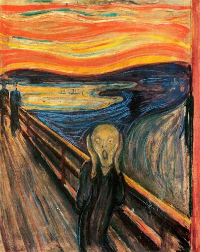 مشهورترین نقاشی های جهان 02 جیغ اثر ادوارد مونک